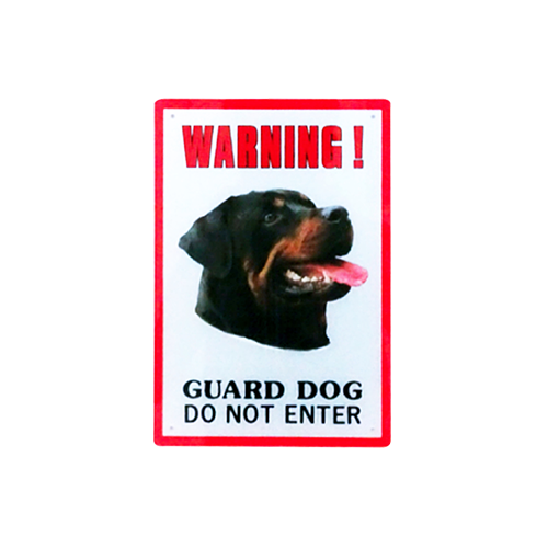 Dinos Warning Guard Dog Sign – Do Not Enter (Rottwieler)-500x500