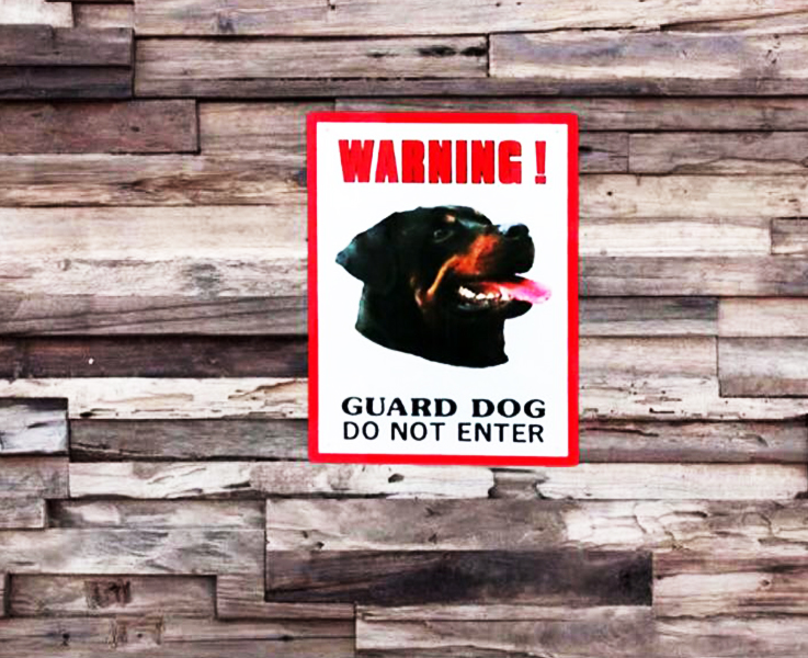 Dinos Warning Guard Dog Sign – Do Not Enter (Rottwieler)