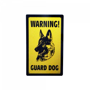 Dinos Warning Guard Dog Sign (Large)-500x500