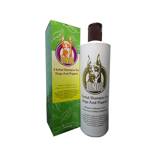 Dinos herbal shampoo 500ml-500x500