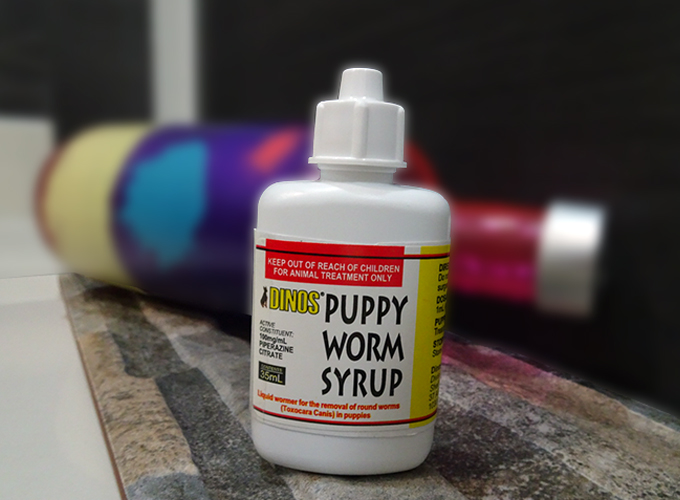 Dinos puppy worm syrup